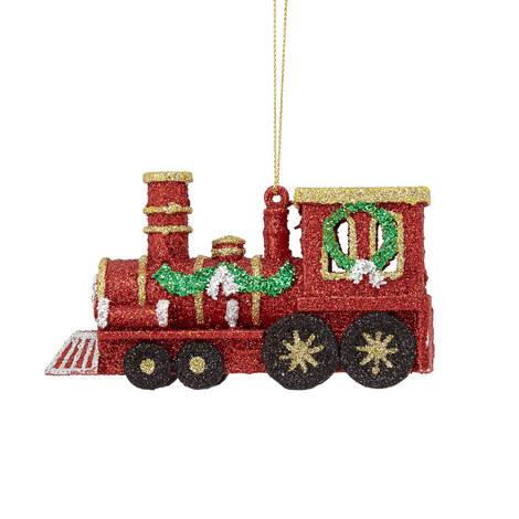Glitter Train Ornament, ${color}