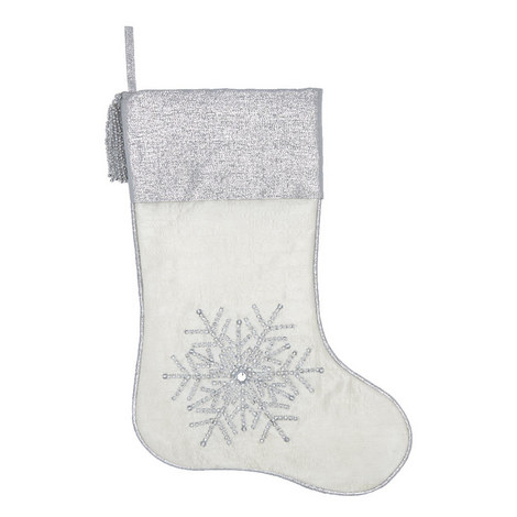 Crystal Snowflake Christmas Stocking, ${color}