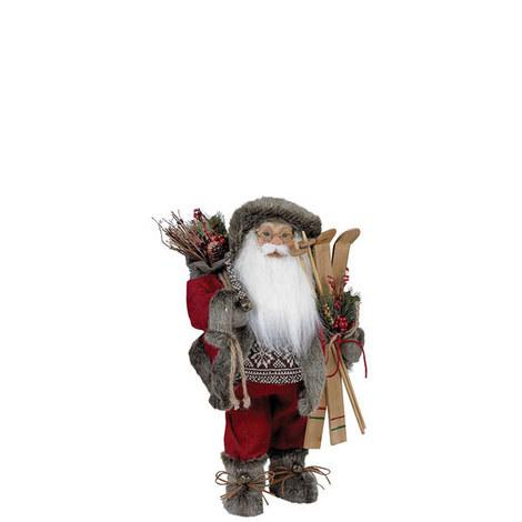 Woodland Standing Santa 18cm, ${color}