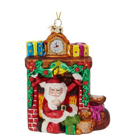 Santa Fireplace Tree Decoration, ${color}