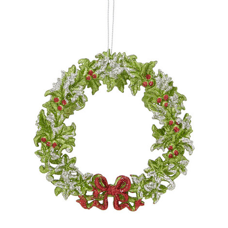 Acrylic Wreath Ornament, ${color}