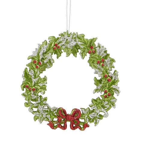 Acrylic Wreath Ornament, ${color}
