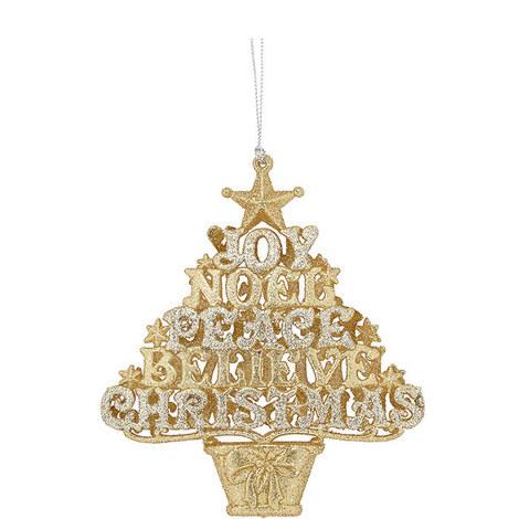 Gold Glitter Tree Ornament, ${color}