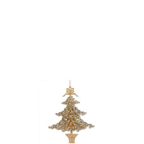 Glitter Tree Ornament, ${color}