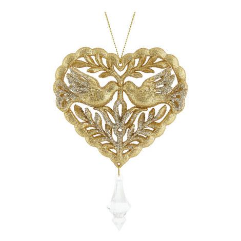Glitter Heart Hanging Ornament, ${color}