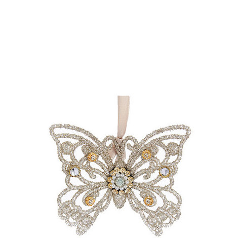 Vintage Glam Glitter Butterfly, ${color}