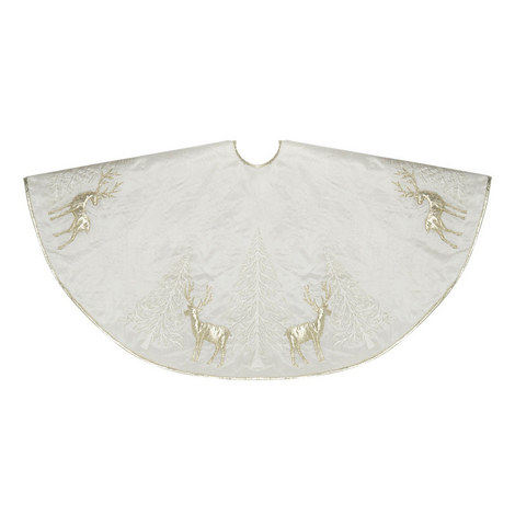 Embroidered Tree Skirt, ${color}
