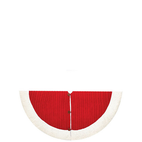 Santa Cable Tree Skirt, ${color}