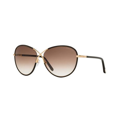 Round Sunglasses FT0344 01B, ${color}