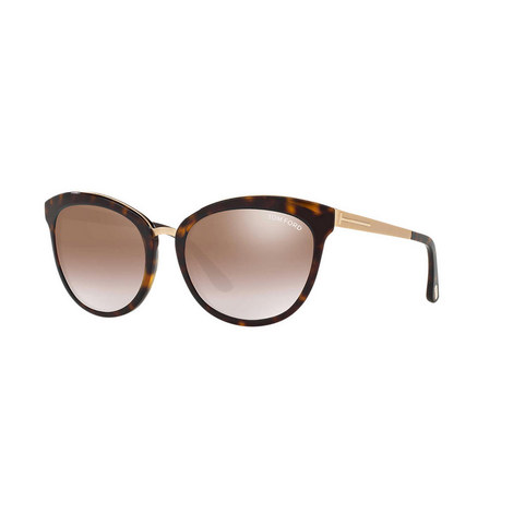 BROWN CAT EYE SUNGLASSES FT0461 56, ${color}
