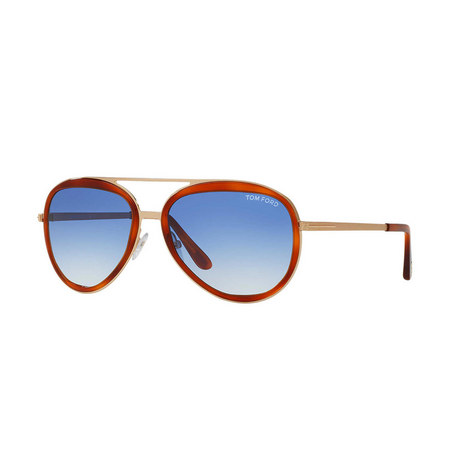 Brown Pilot Sunglasses FT0468 58, ${color}