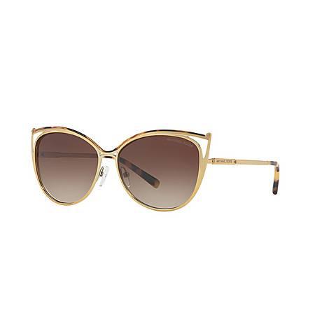 Ina Cat Eye Sunglasses MK1020, ${color}