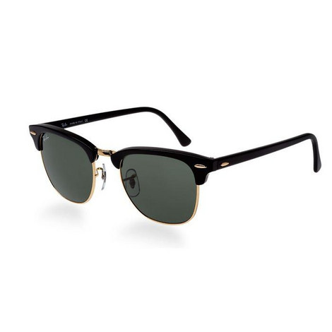 Square Clubmaster Sunglasses Black/Black Lenses, ${color}