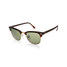 Square Clubmaster Sunglasses Tortoise/Black Lenses