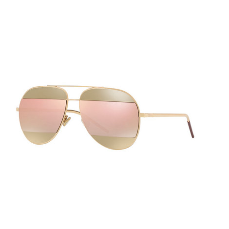 Diorama Split1 Aviator Sunglasses, ${color}