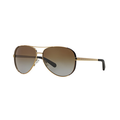 Chelsea Aviator Sunglasses MK5004 Polarised, ${color}