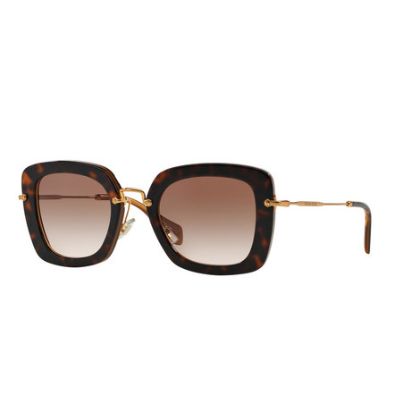 Noir Square Sunglasses 0MU 07OS, ${color}