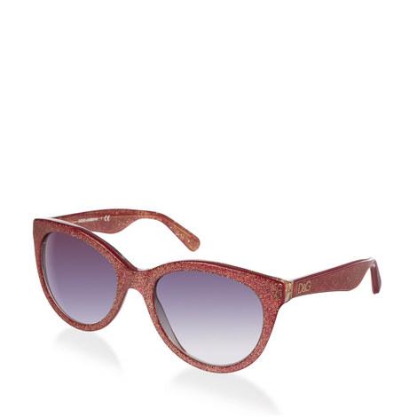 Glitter Cat Eye Sunglasses DG4192, ${color}