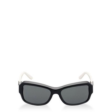 Stirrup Leather Rectangle Sunglasses RL8107Q5, ${color}