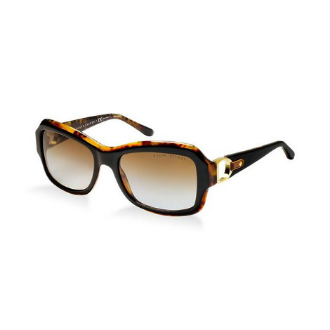 Stirrup Leather Rectangle Sunglasses RL8107Q, ${color}