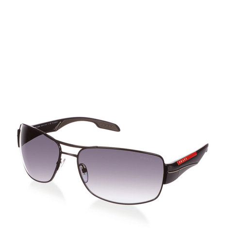 Gunmetal Aviator Sunglasses PS 53NS, ${color}