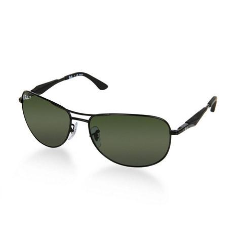 Gunmetal Aviator Sunglasses RB3519, ${color}