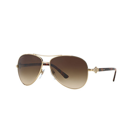 Crystal Aviator Sunglasses BV6073B, ${color}
