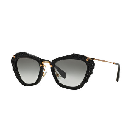 Noir Cat Eye Sunglasses 0MU 04QS, ${color}
