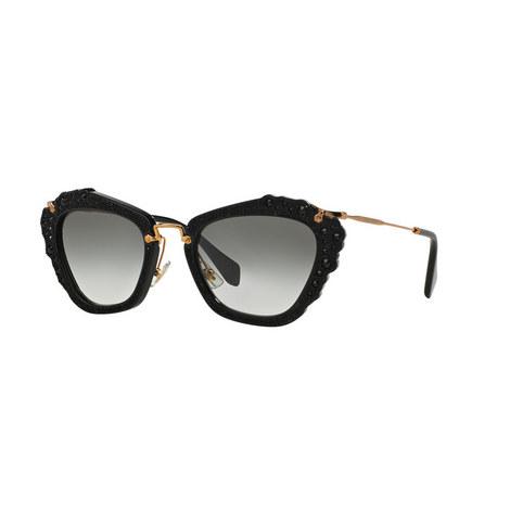 Noir Cat Eye Sunglasses 0MU 04QS, ${color}