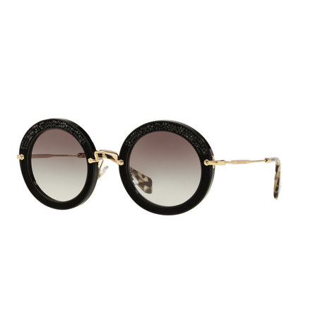 Noir Round Sunglasses 0MU 08RS, ${color}