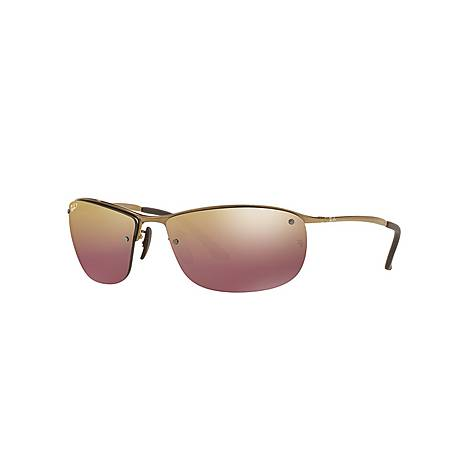 Rectangle Chromance Sunglasses RB3542 Polarised, ${color}