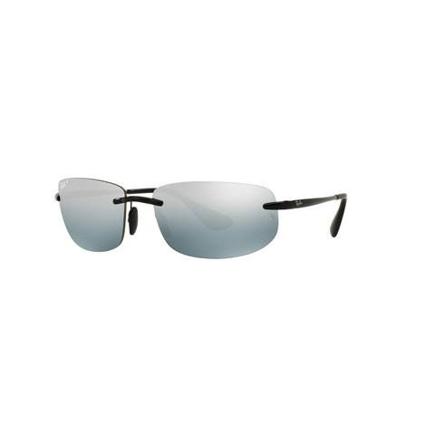 Rimless Rectangle Sunglasses RB4254 Polarised, ${color}