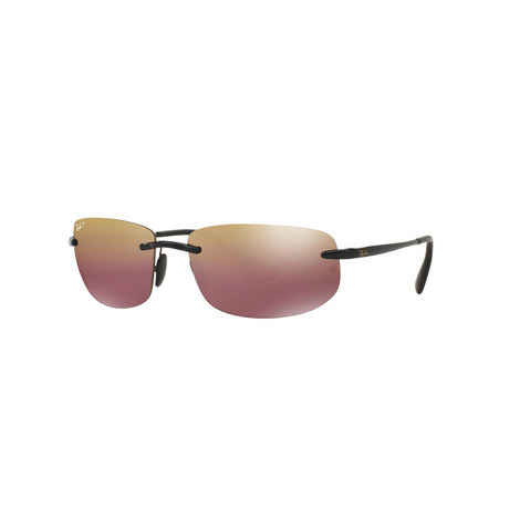Rimless Rectangle Sunglasses RB4254 Polarised, ${color}