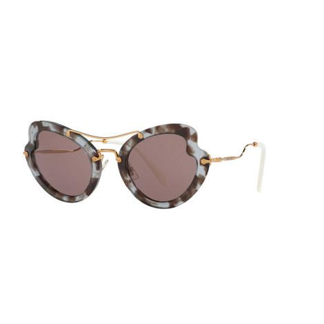 Irregular Cat's Eye Sunglasses 0MU 11RS, ${color}