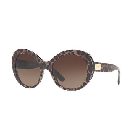 Oversized Leoprint Sunglasses DG4295, ${color}