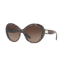 Oversized Leoprint Sunglasses DG4295