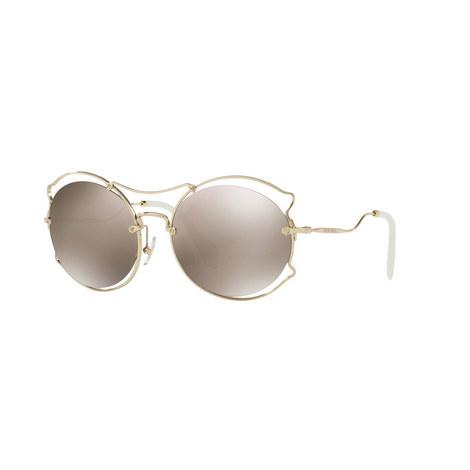 Irregular Round Sunglasses 0MU 50SS, ${color}