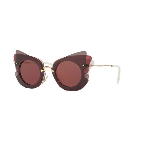 Irregular Cat's Eye Sunglasses 0MU 02SS, ${color}