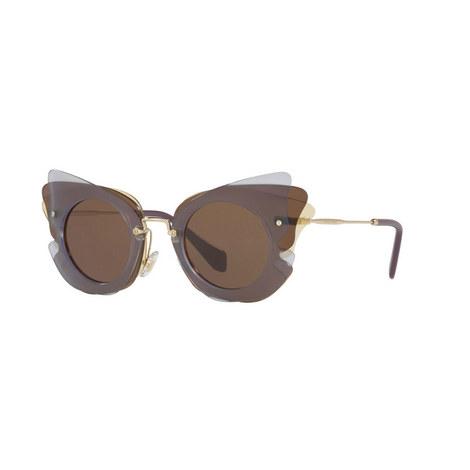 Irregular Cat's Eye Sunglasses 0MU 02SS, ${color}