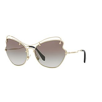 Irregular Cat Eye Sunglasses 0MU 56RS