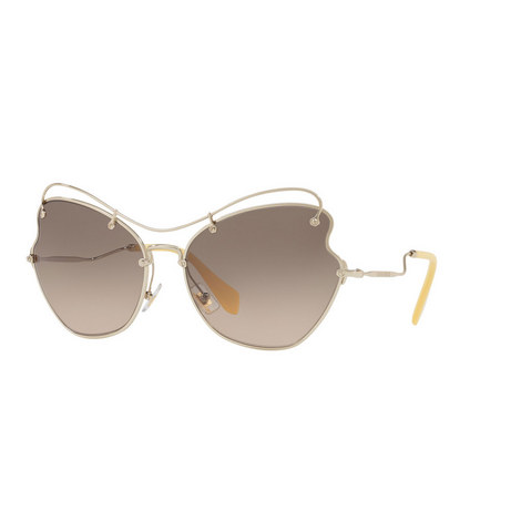 Irregular Cat Eye Sunglasses 0MU 56RS, ${color}
