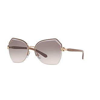 Angled Butterfly Sunglasses 0BV6102B