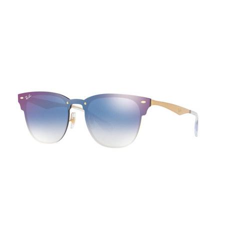 Blaze Clubmaster Square Sunglasses, ${color}