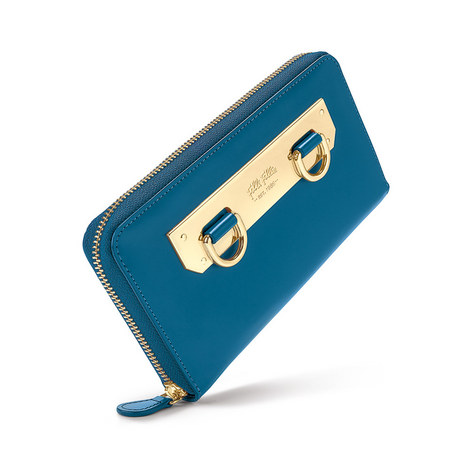 Style Code Zipped Continental Wallet, ${color}