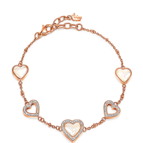 Playful Hearts Pearl Bracelet, ${color}