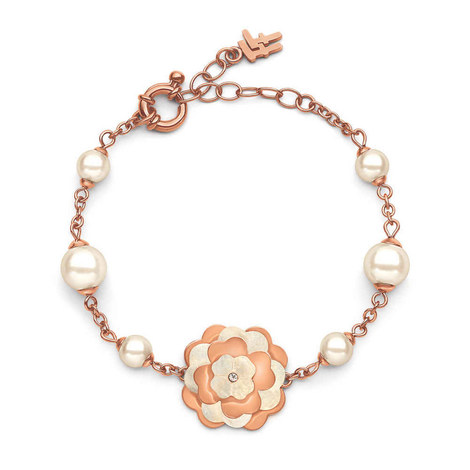 Santorini Flower Pearl Bracelet, ${color}