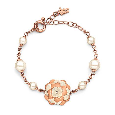 Santorini Flower Pearl Bracelet, ${color}