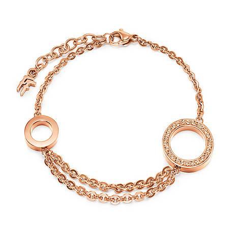 Classy Double Circle Bracelet, ${color}