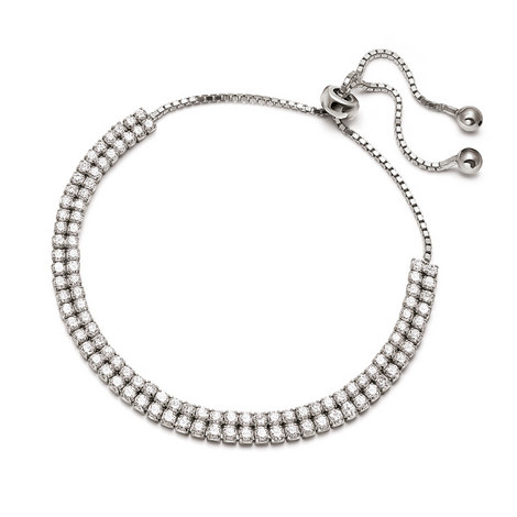 Fashionably Double Row Bracelet, ${color}