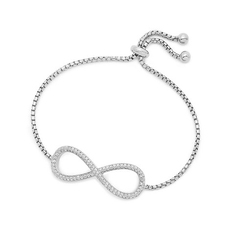 Fashionably Silver Infinity Bracelet, ${color}